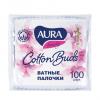 AURA Ватные палочки Cotton Buds, в пакете (100 шт.)